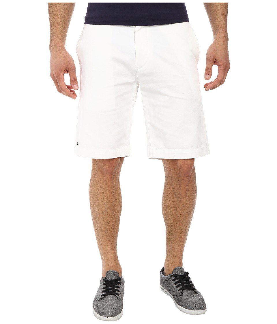 Lacoste Classic Fit Bermuda Short 10 (White) Men