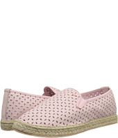 Armani Junior - Pink Slip-On Leather Flat w/ Laser Cut Detail (Big Kid)
