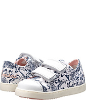 Armani Junior - All Over Floral/Pink Hook-and-Loop Sneaker (Toddler)