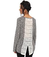 Jack by BB Dakota - Verity Lightweight Slub Sweater w/ Lace Inset