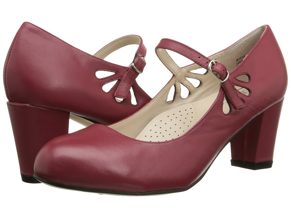 Fitzwell - Mystic Red Napa Leather Womens Sandals $79.00 AT vintagedancer.com