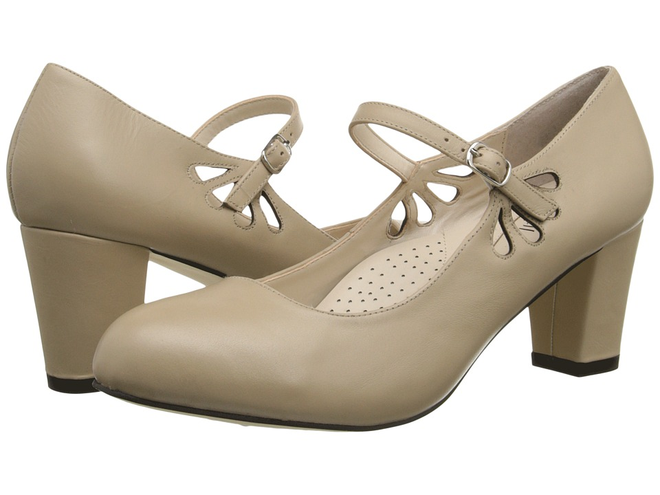 Fitzwell - Mystic Natural Napa Leather Womens Sandals $79.00 AT vintagedancer.com