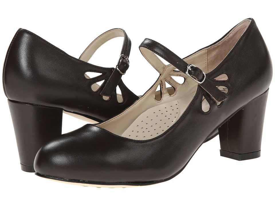 Fitzwell - Mystic Brown Napa Leather Womens Sandals $79.00 AT vintagedancer.com