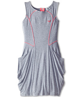 Armani Junior - Grey Traipeze Shape w/ Hot Pink Trim Dress (Big Kids)
