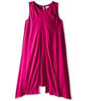 Armani Junior - Fuchsia Flowy Pleated Dress (Big Kids)