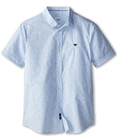 Armani Junior - Paisley Short Sleeve Button Down Shirt (Big Kids)