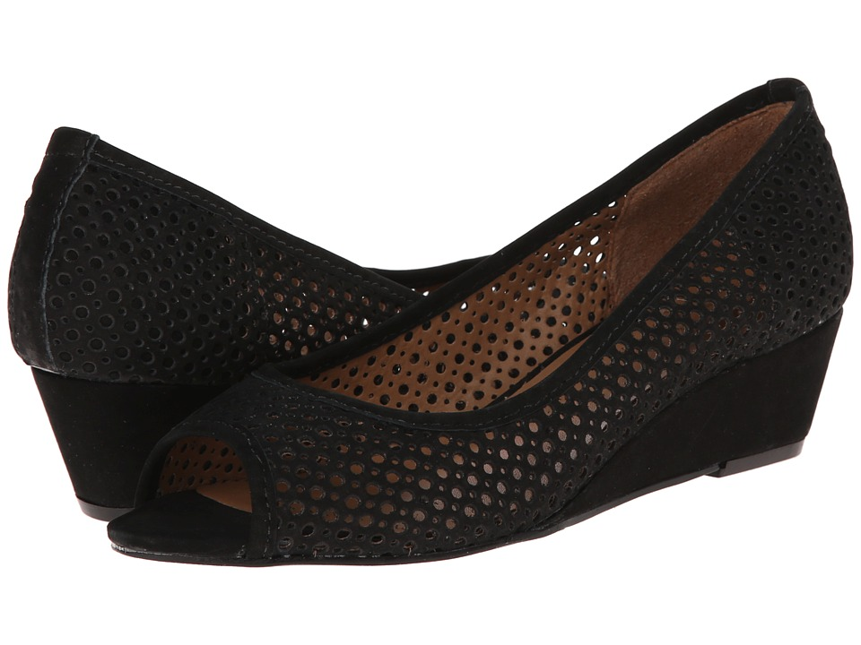 French Sole - Necessary Black Nubuck Womens Flat Shoes $215.00 AT vintagedancer.com