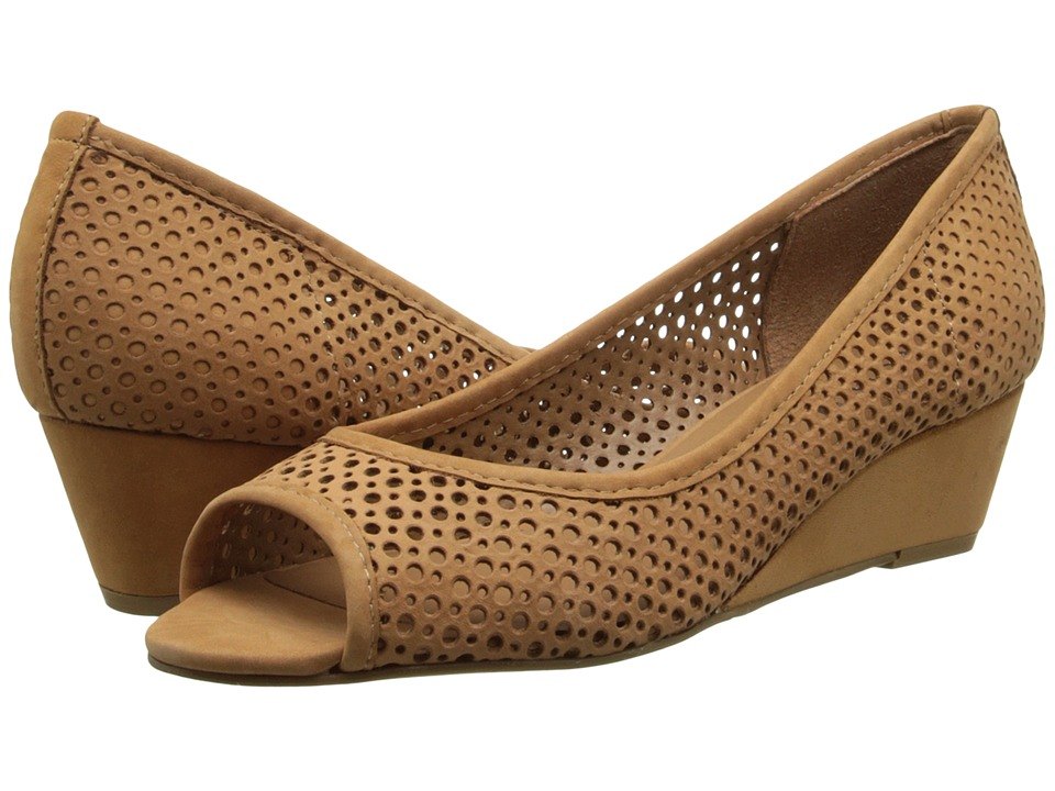 French Sole - Necessary Tan Nubuck Womens Flat Shoes $215.00 AT vintagedancer.com