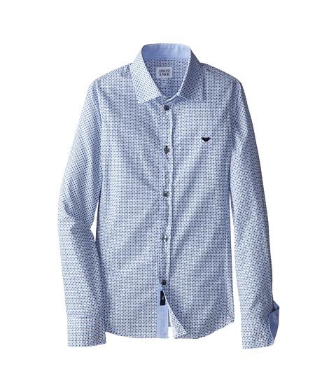 Armani Junior Dotted Pattern Button Down Shirt W Dark