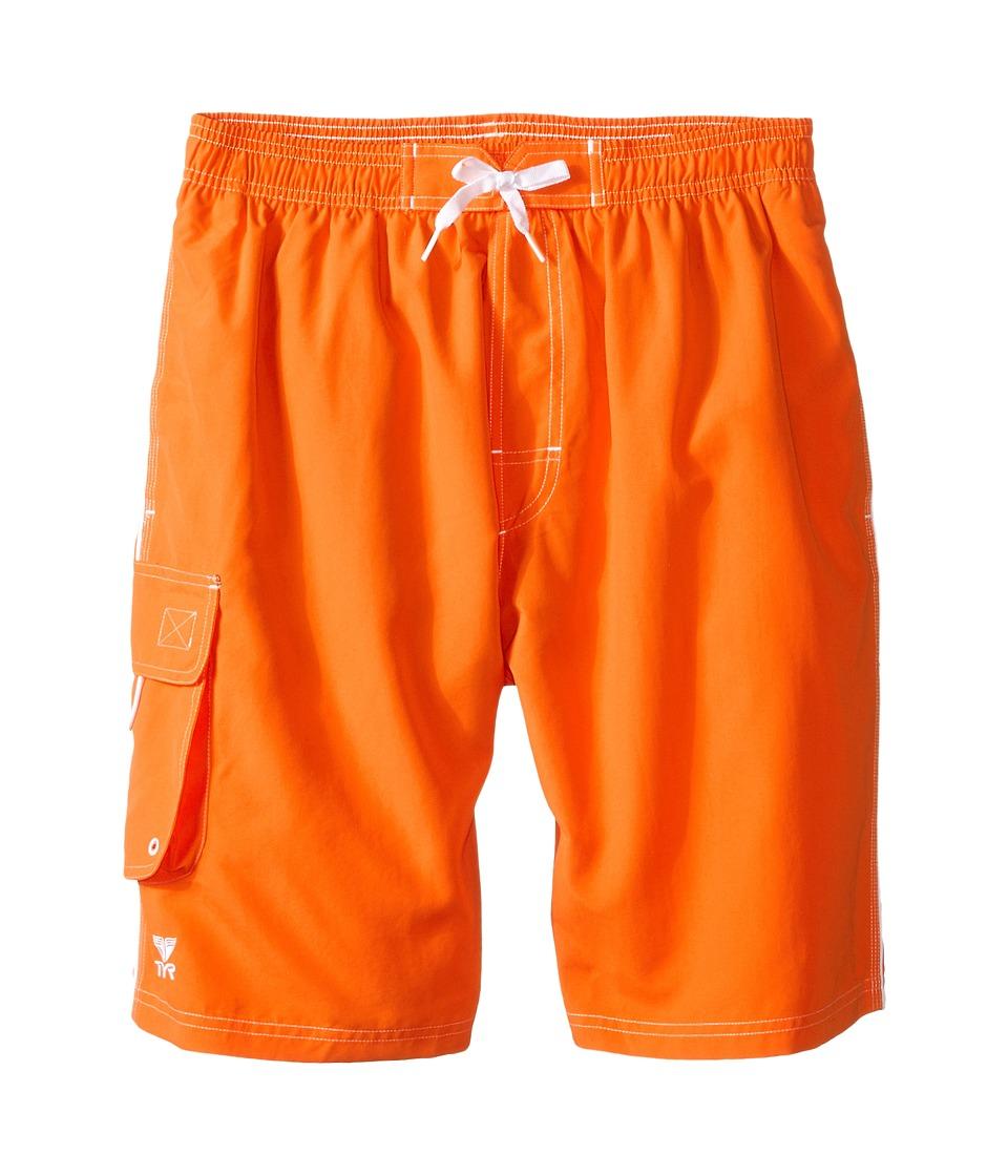 TYR Challenger Trunk Orange Mens Swimwear