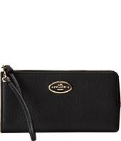 COACH - Refined Grain Leather Zip Wallet