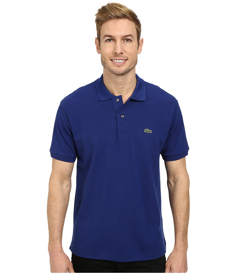 Lacoste L1212 Classic Pique Polo Shirt Varsity Blue Mens Short Sleeve Knit