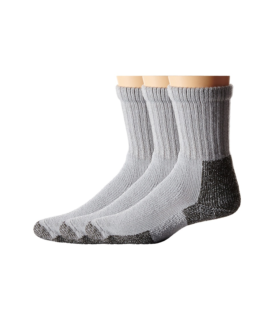 Thorlos Hiking Crew 3-Pair Pack (Gray) Crew Cut Socks Shoes