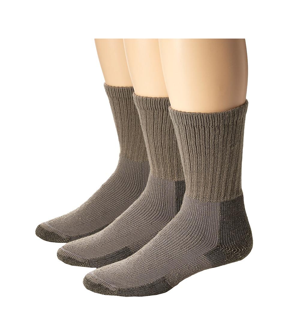Thorlos Hiking Crew 3-Pair Pack (Pewter) Crew Cut Socks Shoes