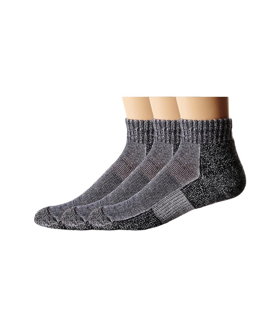 Thorlos - Trail Running Mini Crew 3-Pair Pack (Charcoal) Crew Cut Socks Shoes
