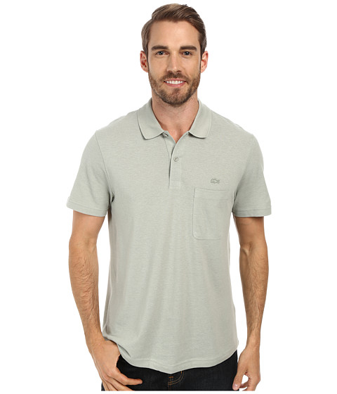 Lacoste cotton linen polo with pocket for Cotton linen polo shirts
