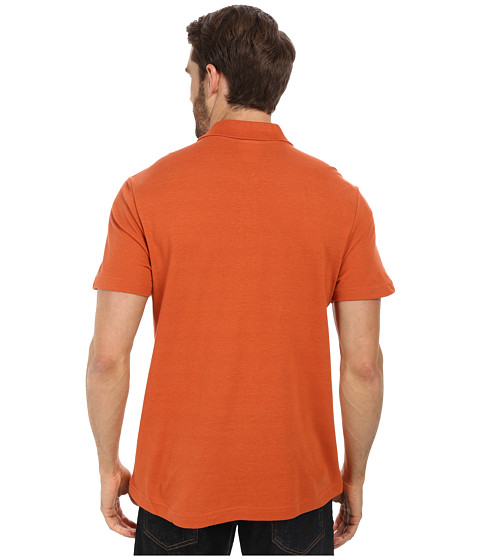 Lacoste Cotton Linen Polo With Pocket Fall Orange