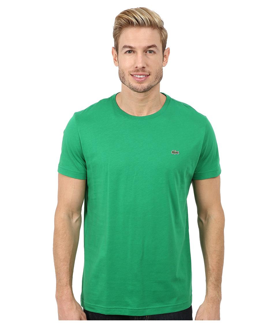 Lacoste - Short-Sleeve Pima Jersey Crewneck T-Shirt (Chlorophyll Green) Men