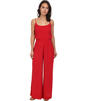 Vix - Solid Red Kate Jumpsuit Cover-Up