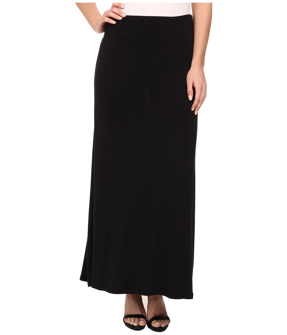 kensie - Light Weight Viscose Spandex Maxi Skirt KS9K6S02 (Black) Womens Skirt