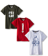 Armani Junior - Three-Piece T-Shirt Pack in Red/White/Green (Infant)