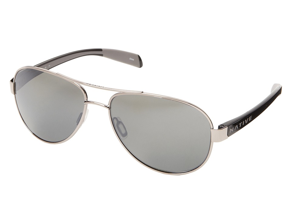 Native Eyewear Patroller (Chrome/Iron/Silver Reflex) Sport Sunglasses