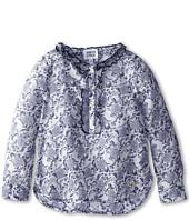 Armani Junior - Floral Flowy Long Sleeve Top (Toddler/Little Kids/Big Kids)