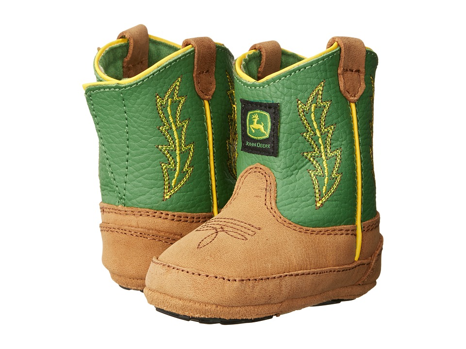 John Deere - Johnny Poppertm Crib (Infant/Toddler) (Tan/Green) Cowboy Boots
