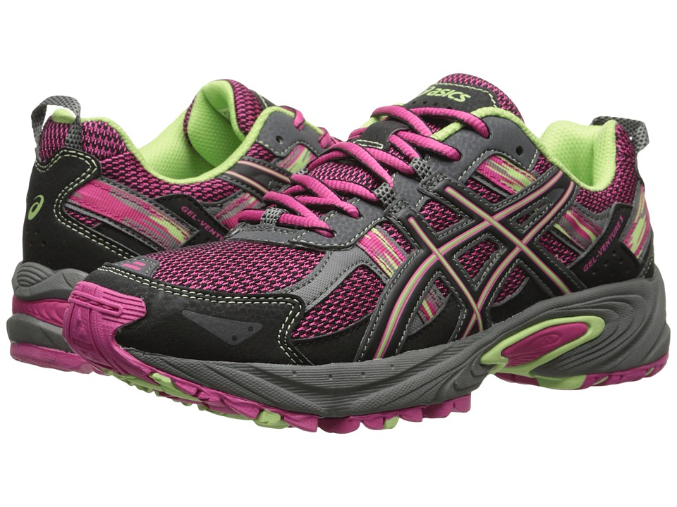 ASICS Kids - Gel-Venture 5 GS (Little Kid/Big Kid) (Pink Glow/Pistachio/Black) Girls Shoes