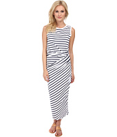 Michael Stars - Stripe Jersey Sleeveless Scoop Neck Midi Dress w/ Twist