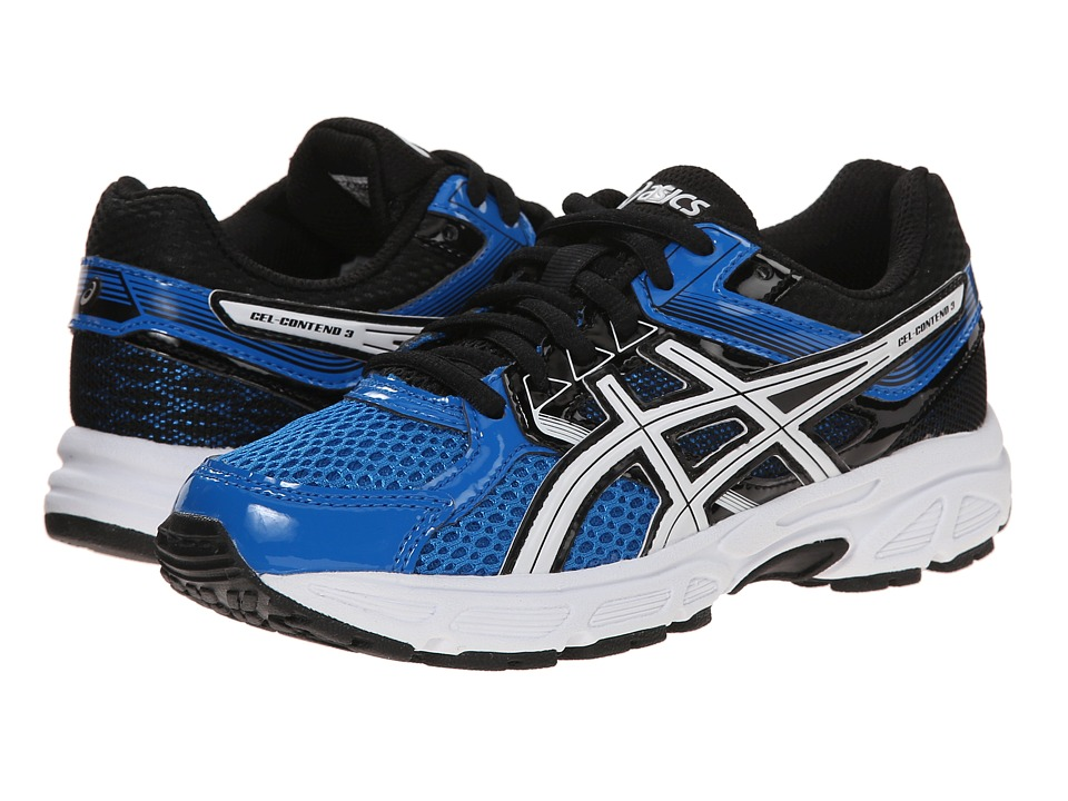 Image of ASICS Kids - Gel-Contend 3 GS (Little Kid/Big Kid) (Electric Blue/White/Black) Boys Shoes