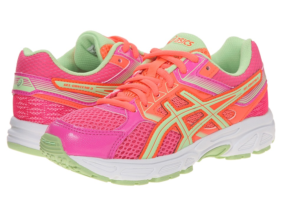 ASICS Kids Gel Contend 3 GS Little Kid/Big Kid Hot Pink/Pistachio/Hot Coral Girls Shoes