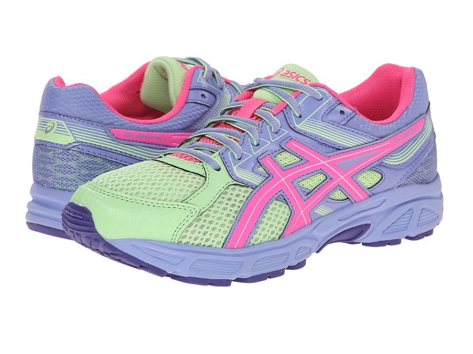 ASICS Kids - Gel-Contend 3 GS (Little Kid/Big Kid) (Pistachio/Hot Pink/Lavender) Girls Shoes