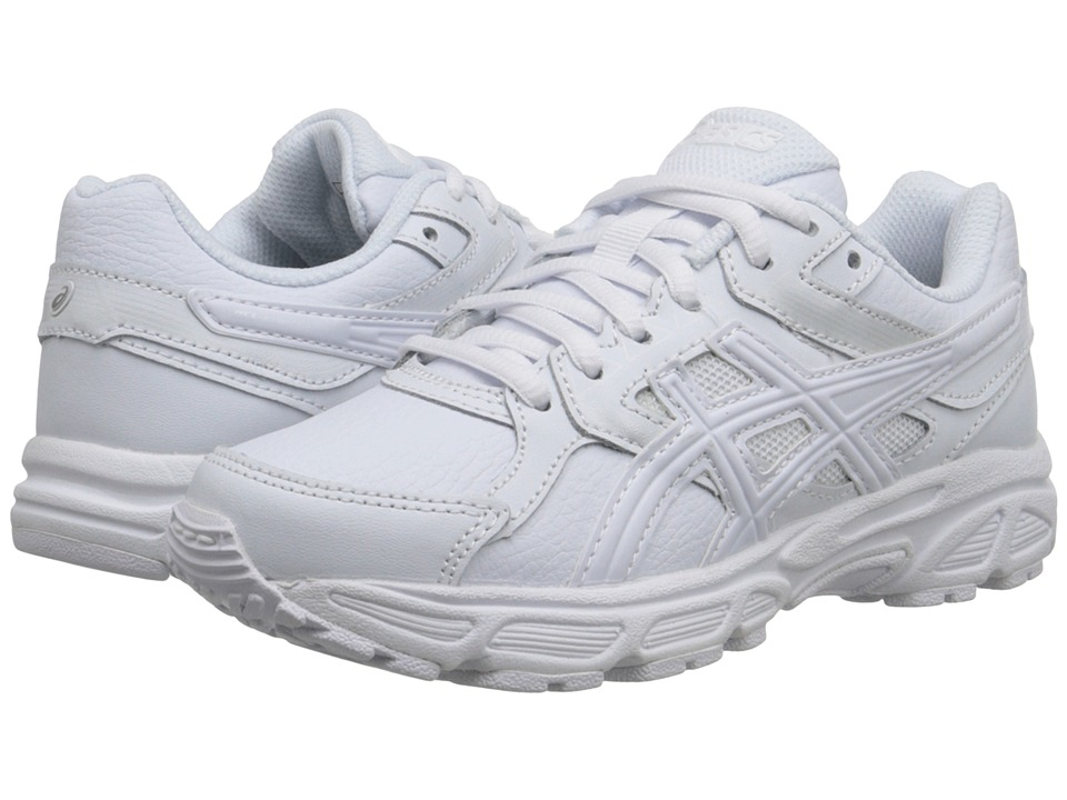 Image of ASICS Kids - Gel-Contend 3 GS Leather (Little Kid/Big Kid) (Triple/White/Snow) Kids Shoes