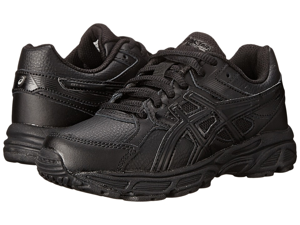 Image of ASICS Kids - Gel-Contend 3 GS Leather (Little Kid/Big Kid) (Triple/Black/Onyx) Kids Shoes