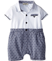 Armani Junior - Plaid Short One Piece w/ White Top (Infant)