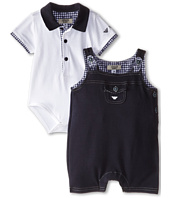 Armani Junior - Two-Piece Gift Set: Collar Body Suit w/ Overalls (Infant)
