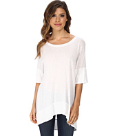 Michael Stars - Luxe Slub Elbow Sleeve Scoop Neck High-Low Top