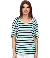 Michael Stars - Traveler Stripe Elbow Sleeve Wedge Scoop Neck Top