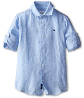 Armani Junior - Linen Button Down Shirt (Toddler/Little Kids/Big Kids)