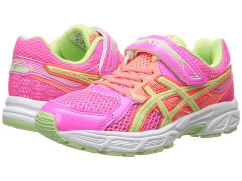 ASICS Kids Pre-Contend™ 3 PS (Toddler/Little Kid) - Hot Pink/Pistachio/Hot Coral