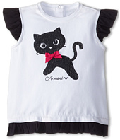 Armani Junior - Ruffle Bottom Kitten Tee (Infant)