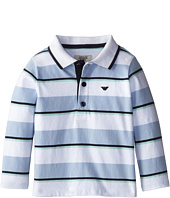 Armani Junior - Long Sleeve Stripe Polo Shirt (Infant)