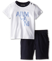 Armani Junior - Two-Piece Set: Short Sleeve Tee & Soft Short (Infant)