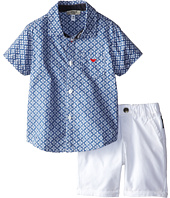 Armani Junior - Two-Piece Set: Button Down w/ White Short (Infant)