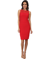 Adrianna Papell - Banded Lattice Sheath Dress