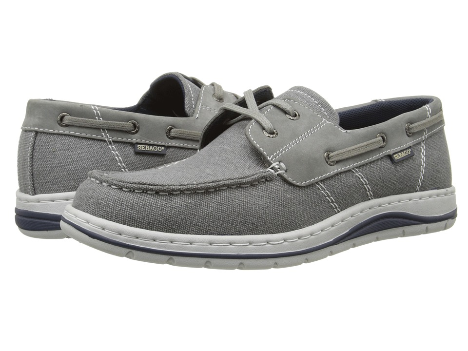 Sebago Hartland Two Eye Grey Canvas/Nubuck Mens Shoes