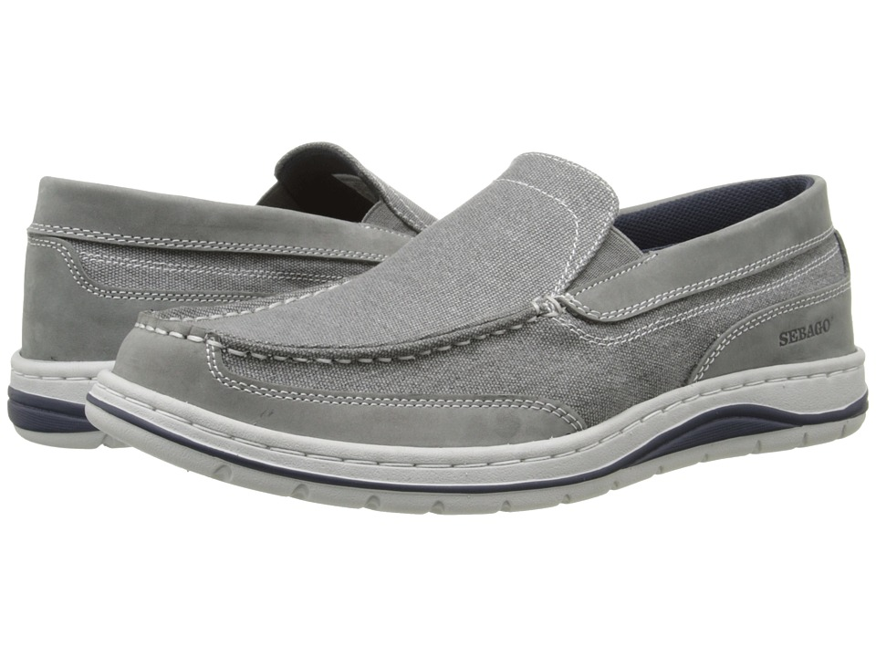 Sebago Hartland Slip On Grey Canvas/Nubuck Mens Slip on Shoes