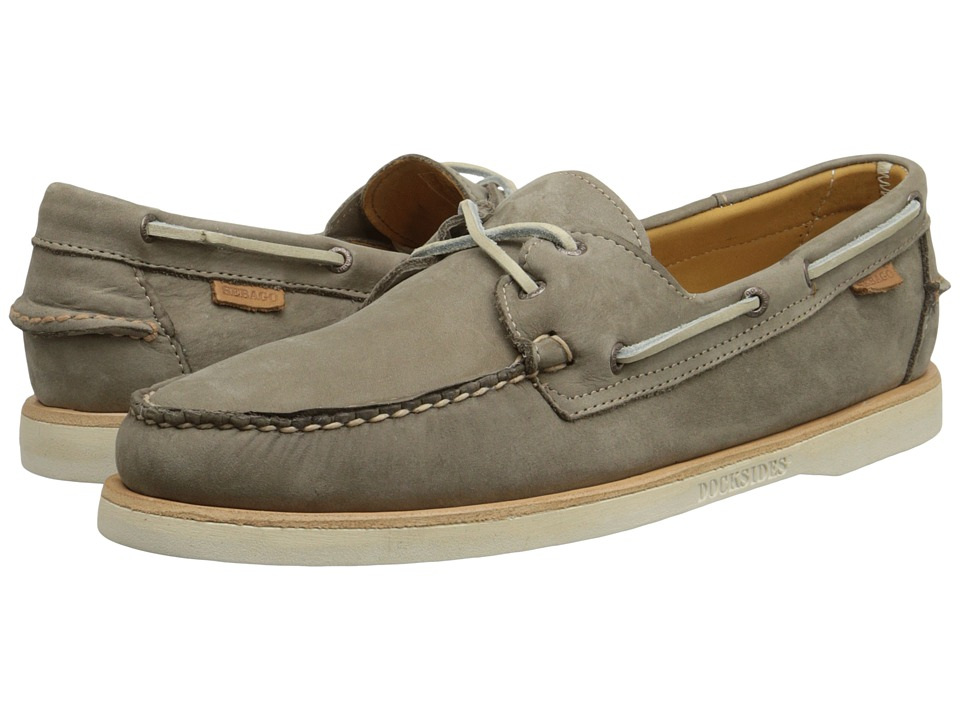 Sebago Crest Docksides Dark Taupe Nubuck Mens Lace up casual Shoes