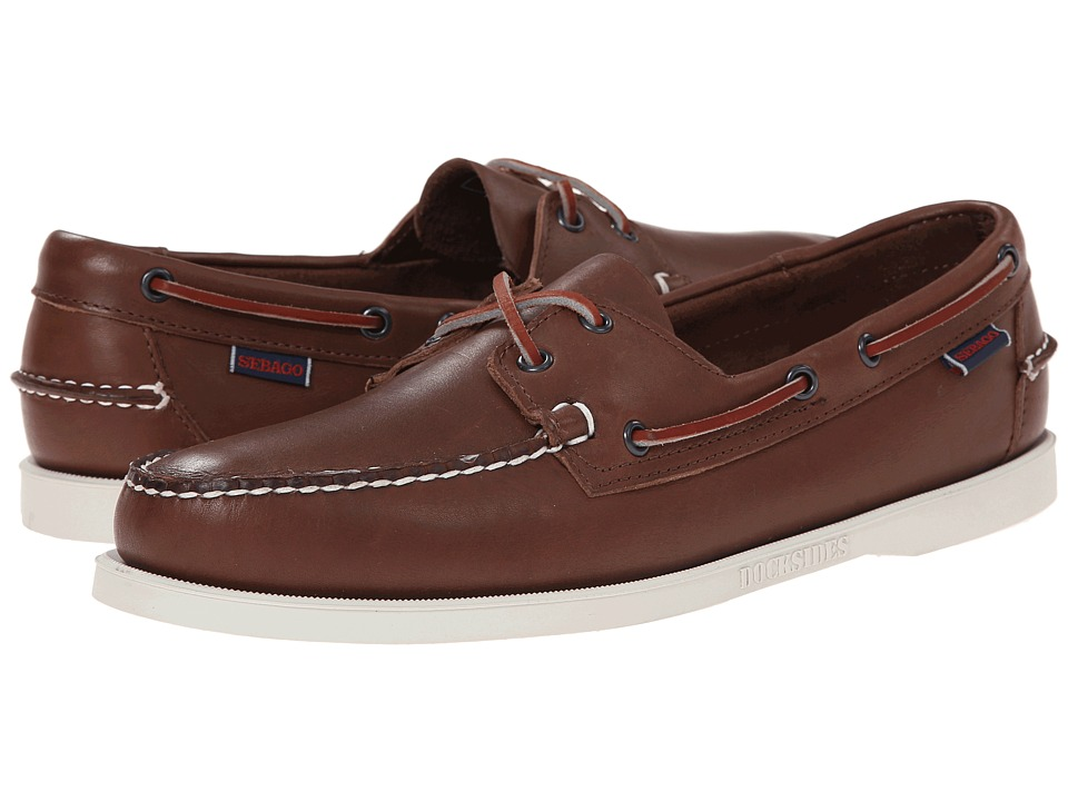 Sebago Docksides Brown Leather Mens Lace up casual Shoes